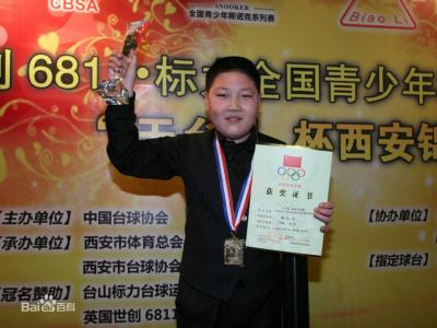 颜丙涛,山东淄博人,中国台球队运动员
